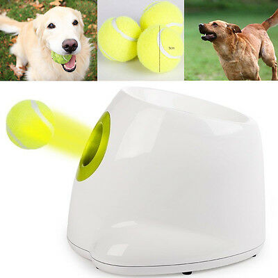 Automatic Tennis Ball Launcher Throwing Machine Dog Indoor Outdoor Training Game