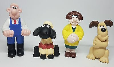 4 Wallace and Gromit Figures, Wallace, Gromit, Wendoline and Shaun the Sheep