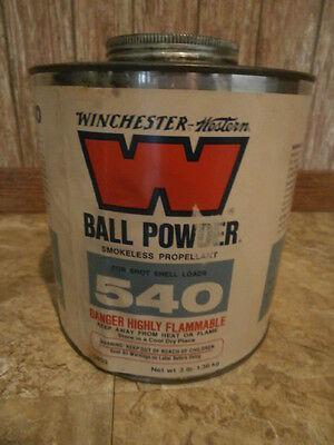 Vintage Winchester Western  Ball Powder Tin 540