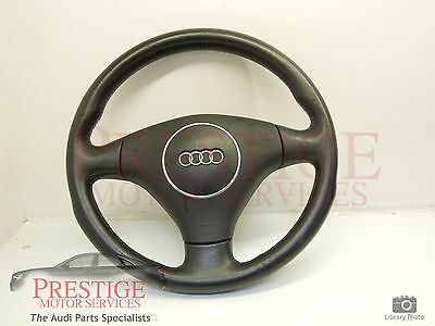 Audi A4 B6 Black Leather Steering Wheel 8E0419091AS #16