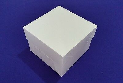 "Cake Boxes + Lids | 0.5 mm Thick  | White | Strong | 8"" 10"" 12"" 14"" 16"""