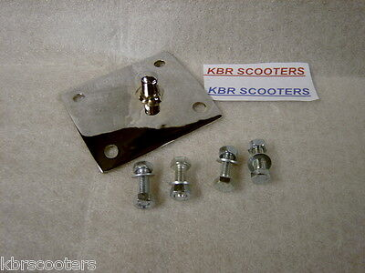 Lambretta Chrome Seat Catch For Side Lever Seats Plus Seat Bolts