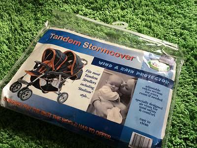 *New* Valco TANDEM Storm Cover universal rain cover Twin Double