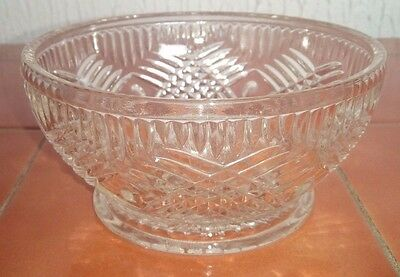Antique Art Deco Vintage Clear Glass Sundae Cocktail Dish Bowl Integral Saucer