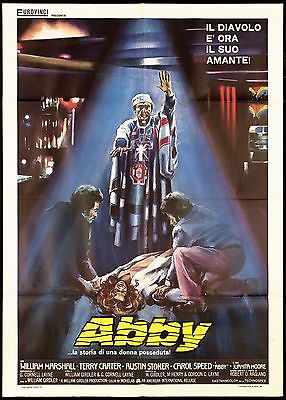 Abby La Storia Di Una Donna Posseduta Manifesto Film Horror 1974 Movie Poster 2F