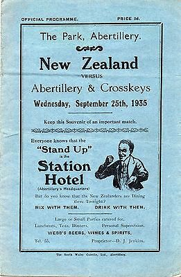 Sep 35 ABERTILLERY & CROSSKEYS v NEW ZEALAND