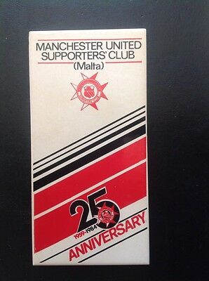 Manchester United Supporters' Club Malta 25th anniversary tile 1959-1984