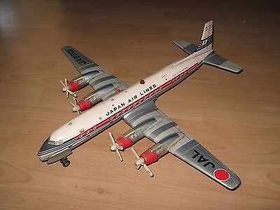 GROSSES Metall Flugzeug <> JAL <> Douglas DC-7C <> Japan Air Lines  <> 53 cm