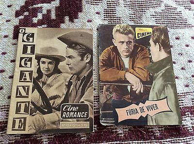 James Dean Rebel Without a Cause & Giant Magazines Portugal 1957 RARE