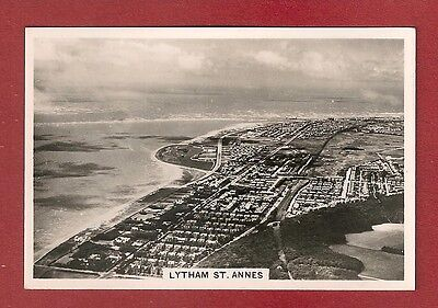 ROYAL LYTHAM ST ANNES 1939  golf Nr BLACKPOOL Aerial view original card