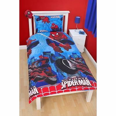 Ultimate Spiderman City Single Duvet Cover Childrens Bedding Set New Official