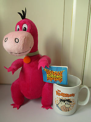 11 inches Tall With Tag Soft Toy Dino Flintstones Mug Excellent Clean Condition
