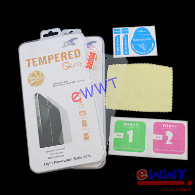 2x Tempered Glass Screen Protector +Cloth for iPod Touch 5th Gen 5 A1421 ZMSQ141