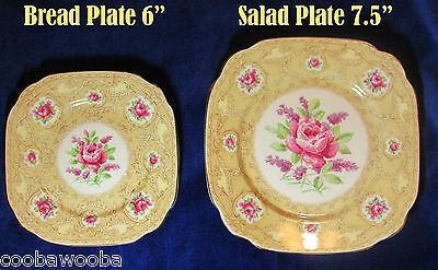 c1940s Royal Albert Devonshire Lace Square Plate (s) on Choice Bone China Englan