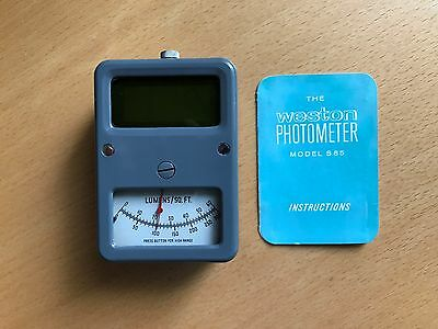 USED SANGAMO WESTON S85 LIGHT METER PHOTMETER  c1960's