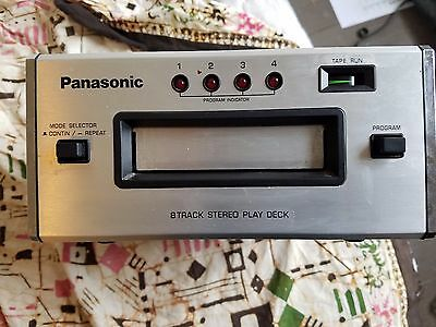 Panasonic RS-807 Eight Track Tape Player Tested and Working.   Nice Unit
