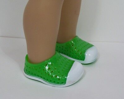 fc5f945cc77a84 GREEN WHITE Silicone Sandal Earth Clogs Doll Shoes For 18