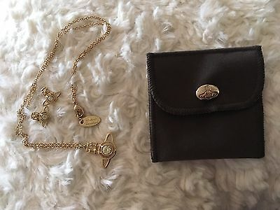 Vivienne Westwood Gold Nora Earrings Necklace Jewellery Set RRP £140 Combined