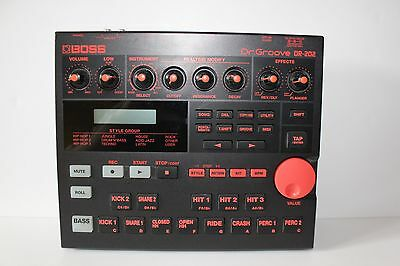 BOSS DR-202 DR 202 Dr. Groove Vintage Drum Rhythm Machine with Power Cable