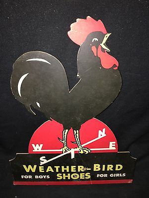 "1930's 15"" Weather Bird Children's Shoes Sign"