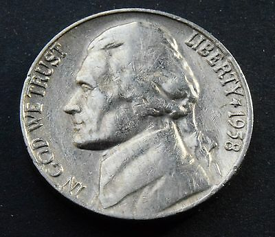 1958 U.S.A  UNITED STATES Jefferson Nickel 5 Cents coin