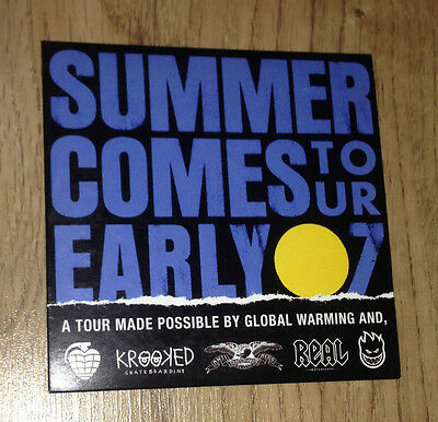 Summer Comes Early Tour Skateboard DVD Skatevideo Real,Krooked,Spitfire,Thunder