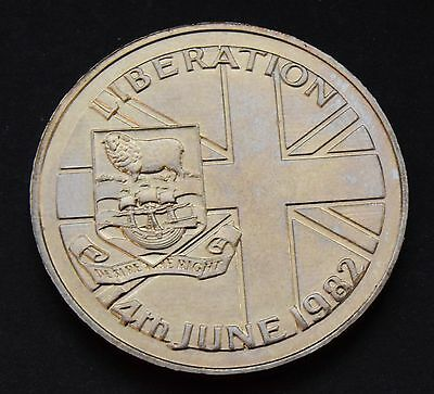 1982*unc*falkland Islands Liberation Crown Size 50P Fifty Pence Coin-Km#18
