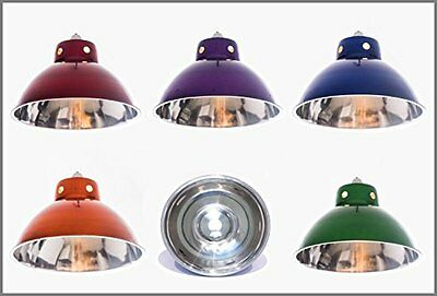 Funky Retro Style Metal Ceiling Pendant Light Lamp Shades in Choice of Colours