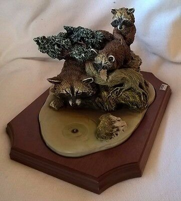 Bossons Crown Collection: First Course (Raccoons) Original Box Limited Edition