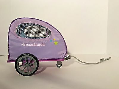 American Girl Doll Pet Carrier Trailer For Bike Purple In Excellent Condition