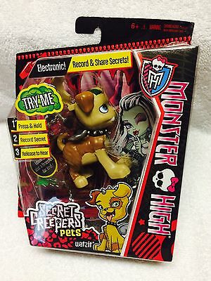 Adorably Cute Monster High Brand New Watzit Secret Creepers Pet