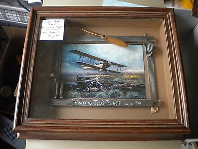 """Larry Janoff Print """"Visiting Jed's Place"""" N0.9/50 Handmade Additions Beautiful"""