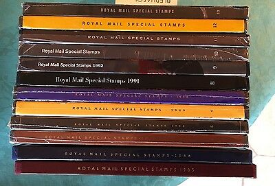 Royal Mail Stamp Yearbooks Collection 1985 to 1996 - 12 Years - MINT