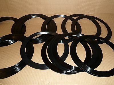 Vinyl Record LP rings Large Centre holes suitable for upcycling craft creations