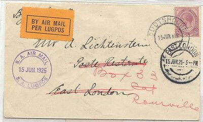 South Africa 1925 First Flight CapeTown Durban Pretoria on stationary Scarce (1e