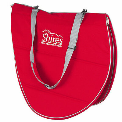 Shires Zip Up Saddle Carrying/storage/travel Carry Bag With Shoulder Strap Red