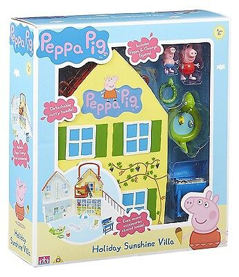 Peppa Pig Holiday Sunshine Beautiful Villa House Playset NEW  Toy GIFT Figures