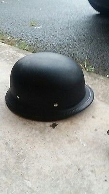 Motorcycle Motorbike Open Face Scooter Classic German Helmet Matt Black **