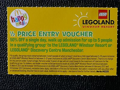 Legoland 1/2 price entry voucher for family of 5 (T&Cs apply - see photos)