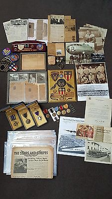 Rare Us Army Air Corps Dfc, Am, Purple Heart Medal Etc Group Air Gunner, B29 Pow