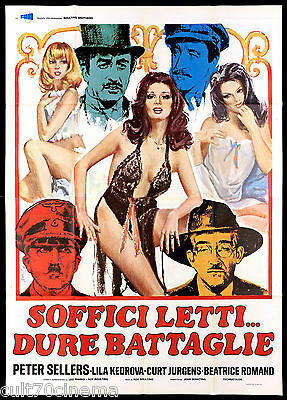 Soffici Letti Dure Battaglie Manifesto Cinema Peter Sellers 1973 Movie Poster 4F