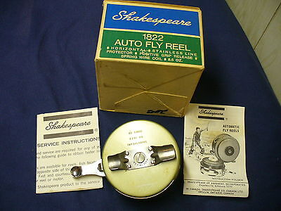 Shakespeare Ok 1822 Ed Auto Fly Reel With Box And Instructions