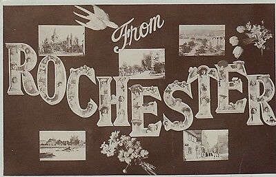 From Rochester, Kent, Multi-View, old postcard, posted 1906