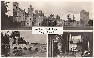 Ashford Castle Hotel, Cong, Ireland, Multi-View, Real photo,old pc, posted 1959
