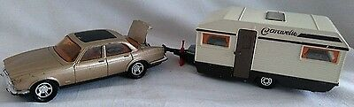 Matchbox Lesney Super Kings K66 Xjs Jaguar Car + K69 Europa Caravan Diecast 1978
