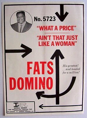 FATS DOMINO 1961 Poster Ad AIN'T THAT JUST LIKE A WOMAN what a price