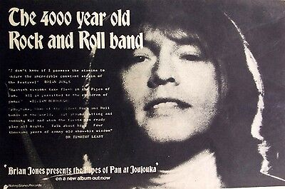 rolling stones BRIAN JONES 1971 Advert PRESENTS THE PIPES OF PAN AT JOUJOUKA