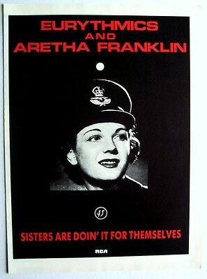 EURYTHMICS & ARETHA FRANKLIN 1985  Advert SISTERS ARE DOIN' IT FOR THEMSELVES
