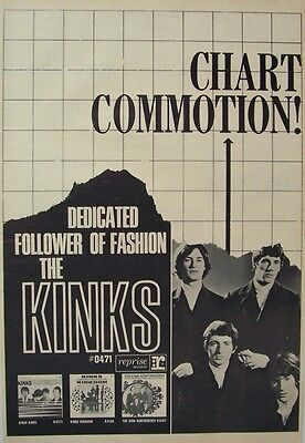 THE KINKS 1966 Poster Ad DEDICATED FOLLOWER OF FASHION