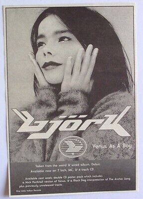 BJORK 1993 Advert VENUS AS A BOY debut